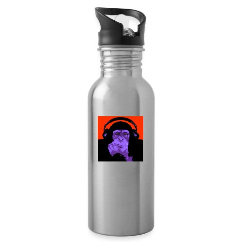 project dj monkey - Drinkfles met geïntegreerd rietje
