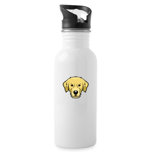 Perro - Botella cantimplora con pajita integrada