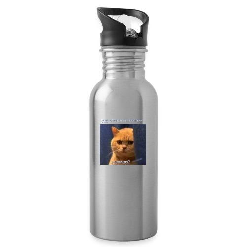 Cat nalgadas - Botella cantimplora con pajita integrada