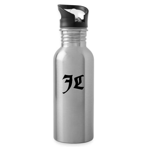 JL Orginal Logo - Drikkeflaske med integreret sugerør