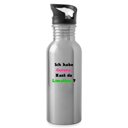 Corona Limetten - Trinkflasche mit integriertem Trinkhalm