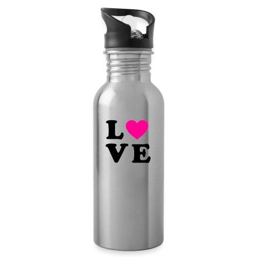 Love t-shirt - Gourde avec paille intégrée