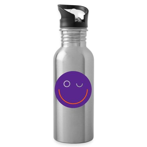 SMILE - Trinkflasche mit integriertem Trinkhalm