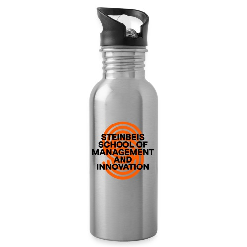 SUPERSIGN + SCHRIFTZUG - Trinkflasche mit integriertem Trinkhalm