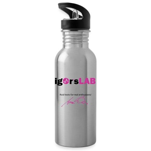 Für's Office - Trinkflasche mit integriertem Trinkhalm