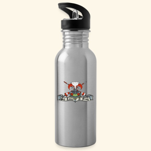 Sir Lance-a-frog Coat of Arms - Water bottle with straw