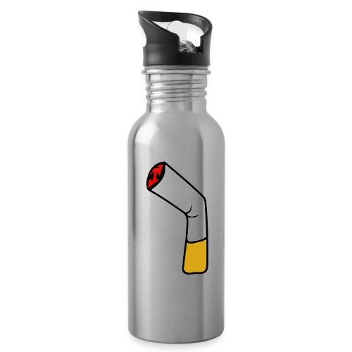 Zigarette - Trinkflasche mit integriertem Trinkhalm