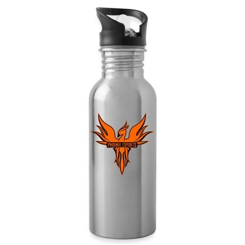 Phoenix Mascot 3Farben - Trinkflasche mit integriertem Trinkhalm