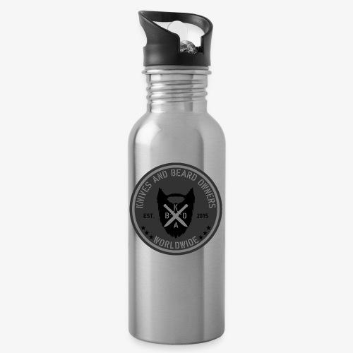kabo logo grau - Trinkflasche mit integriertem Trinkhalm