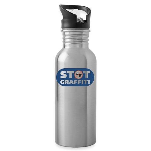 Støt Graffiti - 2wear Classics - Drikkeflaske med integreret sugerør