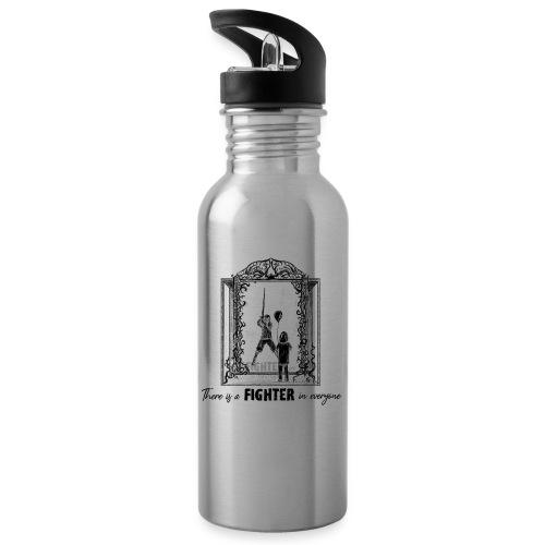 Fight Against... 2019 (bl) - Trinkflasche mit integriertem Trinkhalm