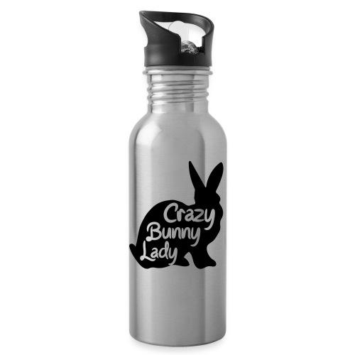 Crazy Bunny Lady - Vattenflaska med integrerat sugrör