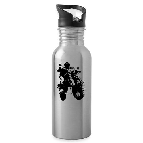 Scrambler - Trinkflasche mit integriertem Trinkhalm