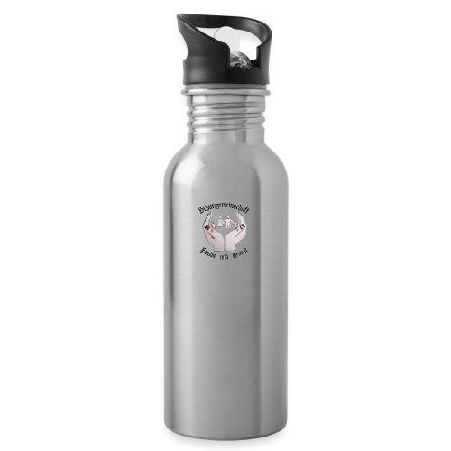 Schutzgemeinschaft Familie und Heimat Shop jpg - Trinkflasche mit integriertem Trinkhalm