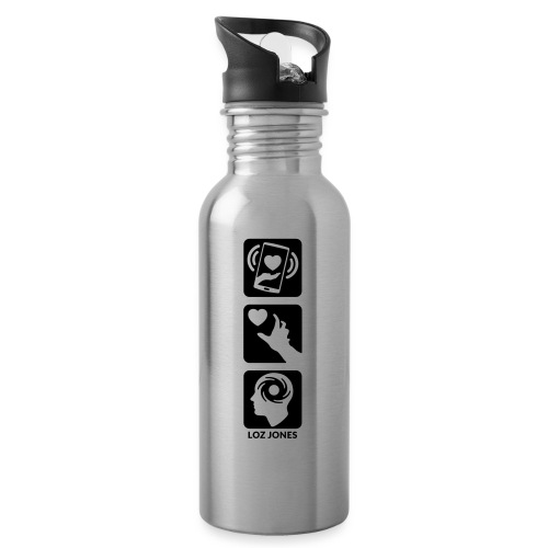 'Carrot Shaped Stick' Vertical Logo - Water bottle with straw