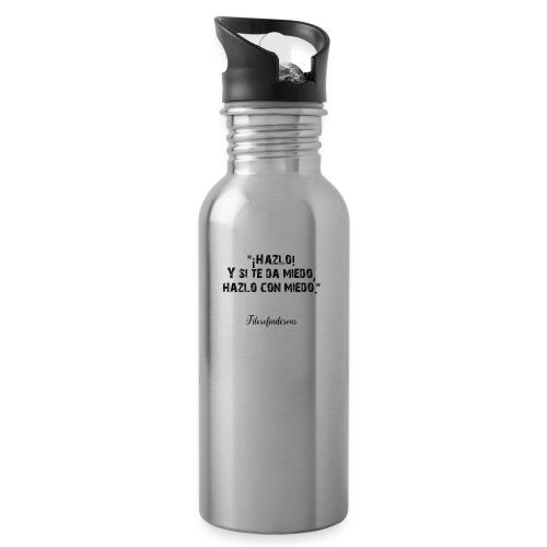 Filososetas - Botella cantimplora con pajita integrada