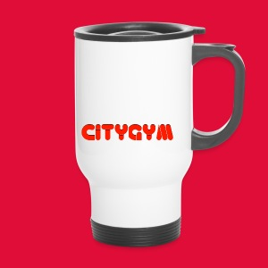 CityGym Guys Pullover - Black - Travel Mug