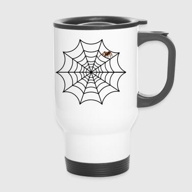 Spinne Netz Tier Halloween Krabbeltier Geschenk - Thermobecher