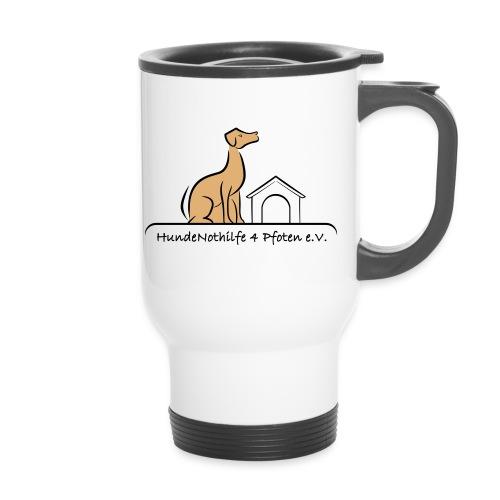 HundeNothilfe Logo - Thermobecher mit Tragegriff