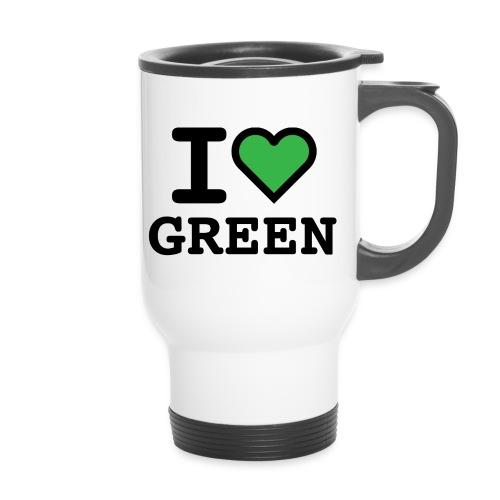 i-love-green-2.png - Tazza termica con manico per il trasporto