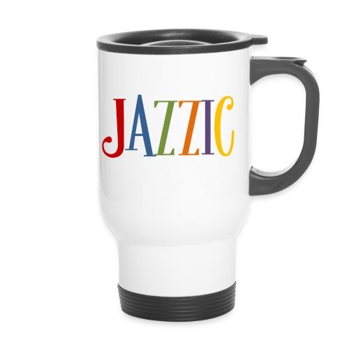 Jazzic Logo - Thermobecher mit Tragegriff