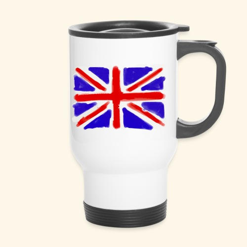 British flag in watercolours - Termosmugg