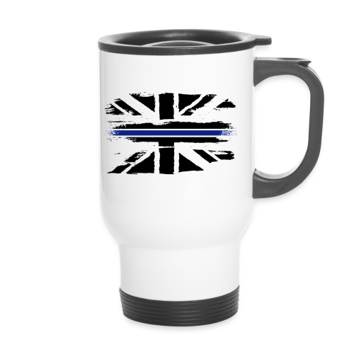 Thin Blue Line Union Jack - Thermal mug with handle