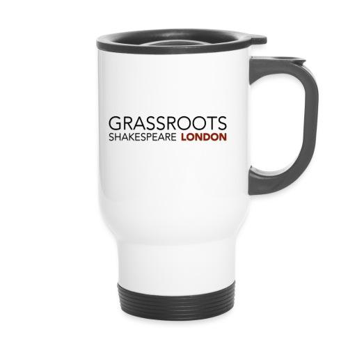 Grassroots Logo Shadow 1 png - Thermal mug with handle
