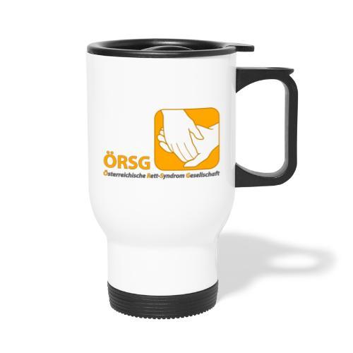 Logo der ÖRSG - Rett Syndrom Österreich - Thermobecher mit Tragegriff