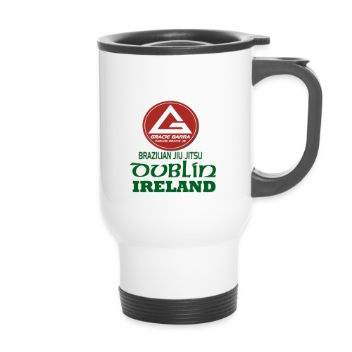 Gracie Barra Dublin Gaelic Celtic Font PNG - Thermal mug with handle
