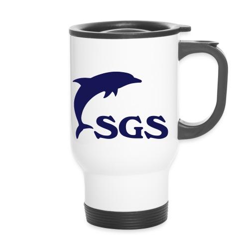 Delfin und SGS - Thermobecher mit Tragegriff