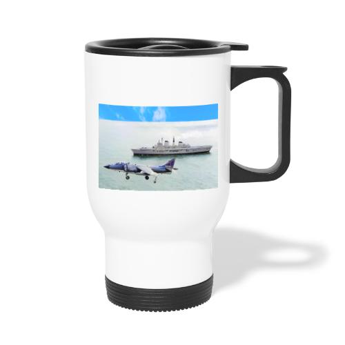 Sea harrier and Invicible digital oil - Thermal mug with handle