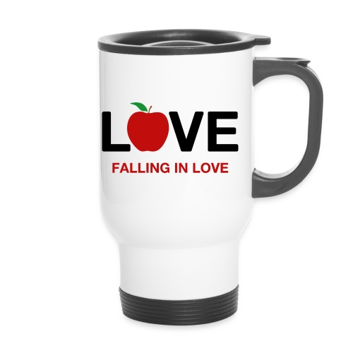 Falling in Love - Black - Thermal mug with handle