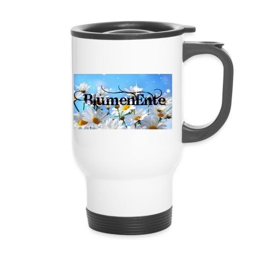 BlumenEnte - Thermobecher mit Tragegriff