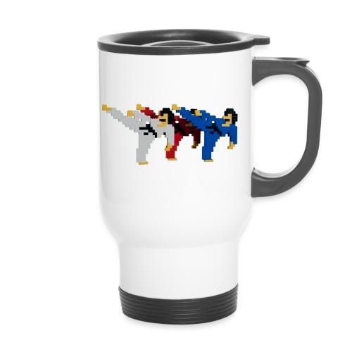 8 bit trip ninjas 2 - Thermal mug with handle