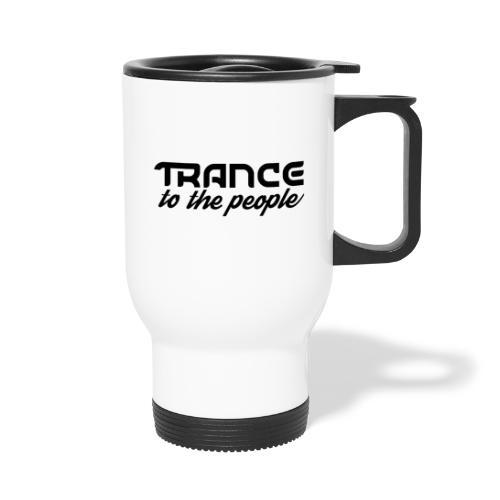 Trance to the People Sort Logo - Termokrus med bærehåndtag
