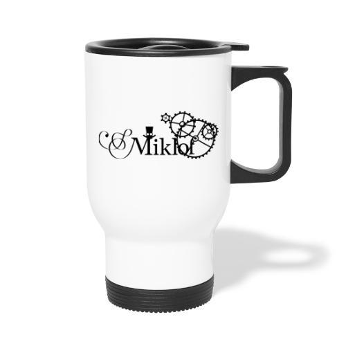 miklof logo black 3000px - Thermal mug with handle