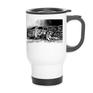 Scarlett Bush hiding from Zombies in Virginia - Travel Mug