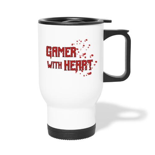 Gamer with heart - Travel Mug