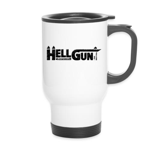 HELLGUN logo 2014 schwarz png - Thermobecher mit Tragegriff