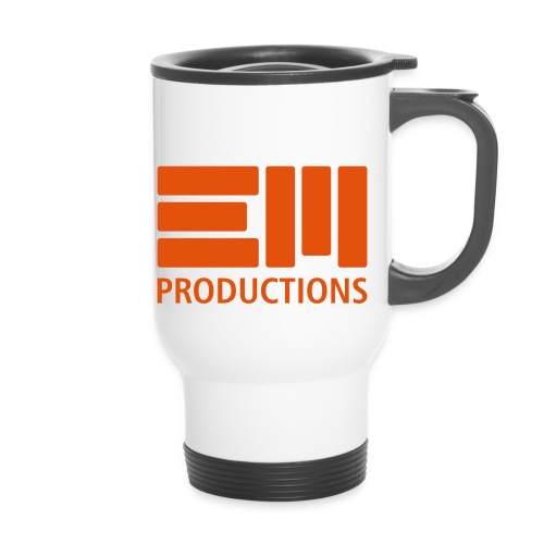 EM Productions Logo 2016 - Thermobecher mit Tragegriff