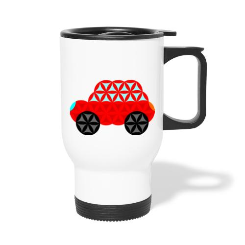 The Car Of Life - M01, Sacred Shapes, Red/R01. - Thermal mug with handle