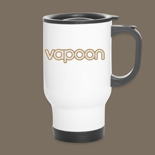 Vapoon Logo simpel 2 Farb - Thermobecher mit Tragegriff