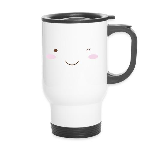 happy face wink - Travel Mug