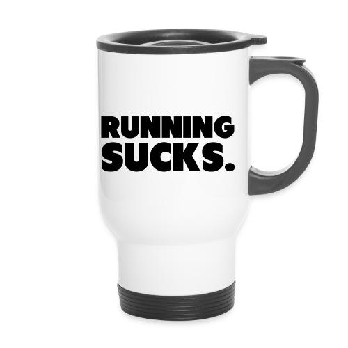 Running Sucks - Kahvallinen termosmuki