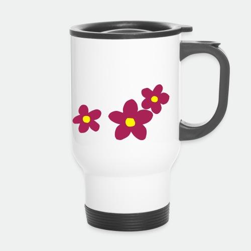 Three Flowers - Thermal mug with handle