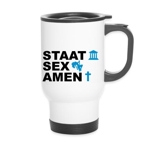 Staatsexamen / Staat Sex Amen - Thermobecher mit Tragegriff