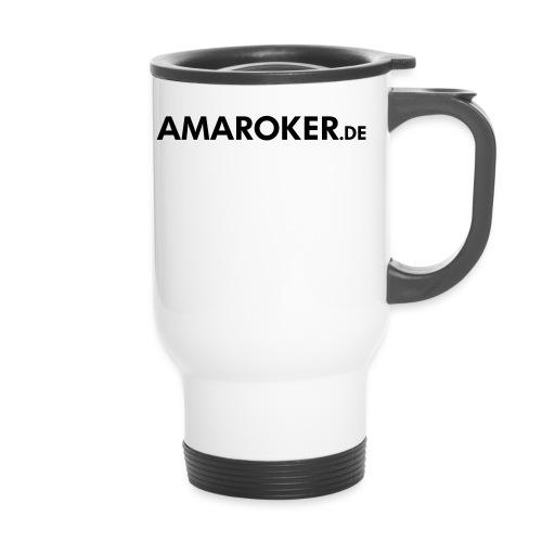amaroker_logo_sw - Thermobecher mit Tragegriff