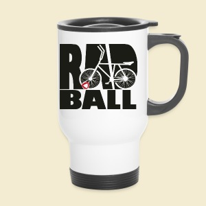 Radball | Typo Black - Thermobecher