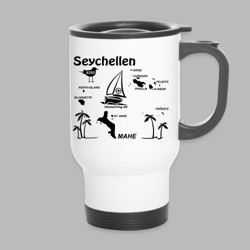 Seychellen Insel Crewshirt Mahe etc. - Thermobecher mit Tragegriff